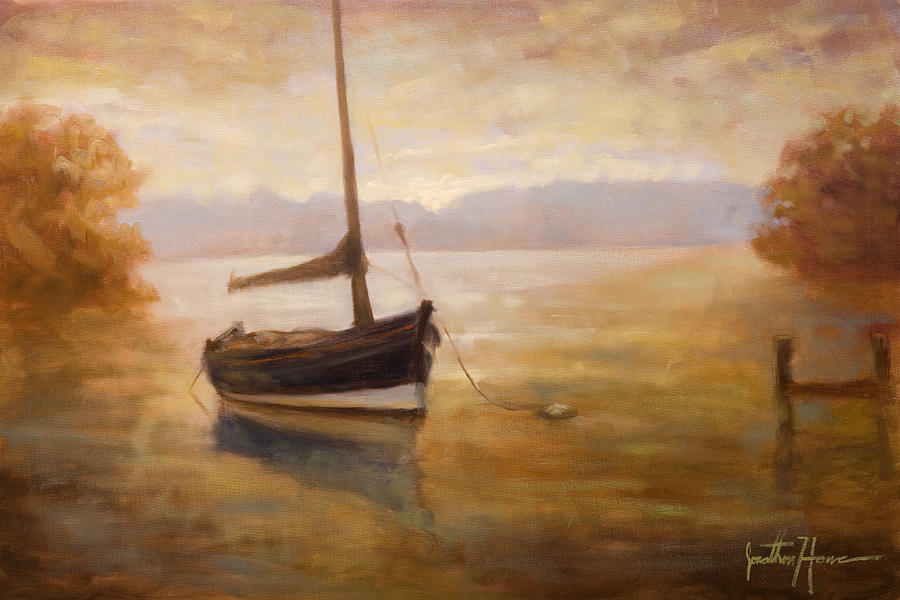 Landscape Painting - Fishing Boat by Jonathan Howe