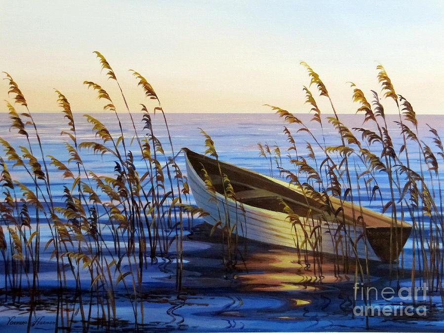Fishing Boat On The Water Painting - Fishing Boat by Varvara Harmon
