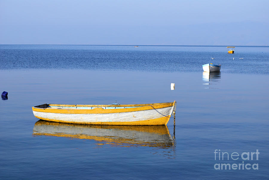 Tranquil Scene Photograph - Fishing Boats by Marija Stojkovic