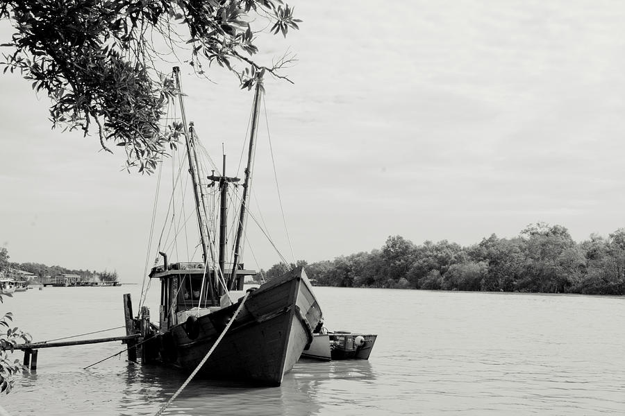 Horizontal Photograph - Fishing Bumboat by Photo Copyright of Love Image Lab (by Sim Chin Ping)