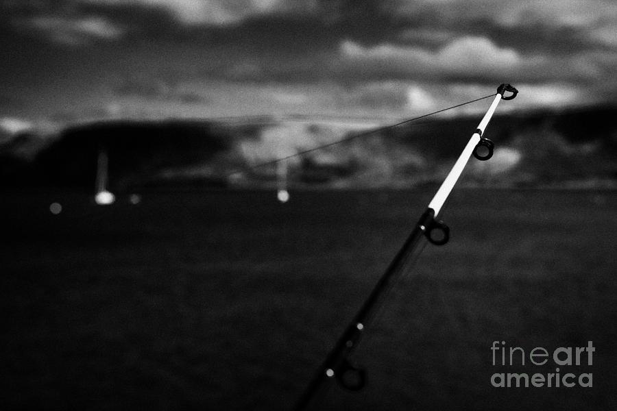 Fishing Photograph - Fishing On The County Antrim Coast Northern Ireland by Joe Fox