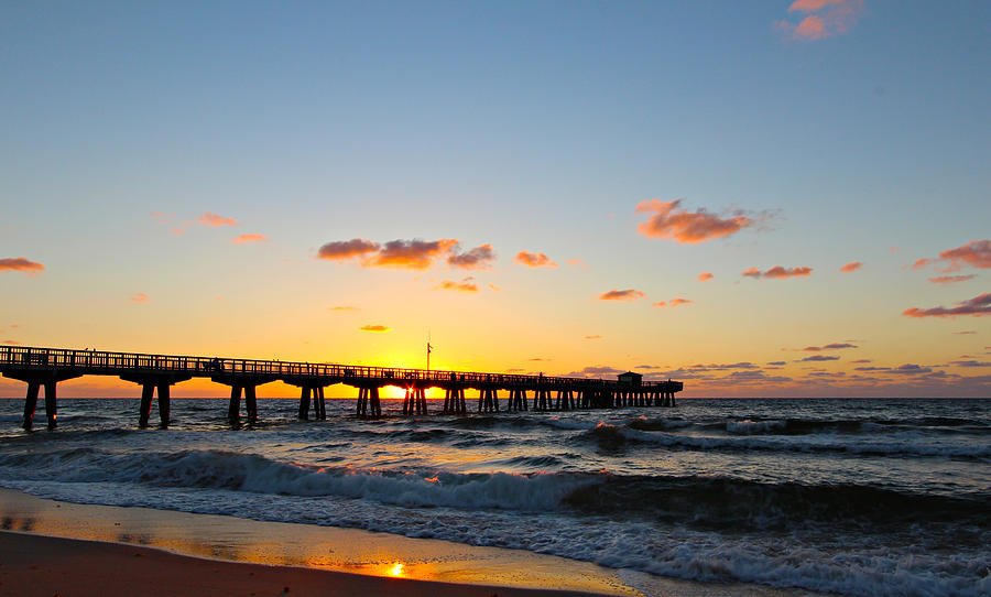 America Photograph - Fishing Pier by Paul Fell