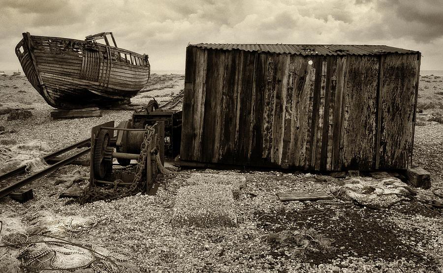 Fishing Photograph - Fishing Remains At Dungeness by David Turner