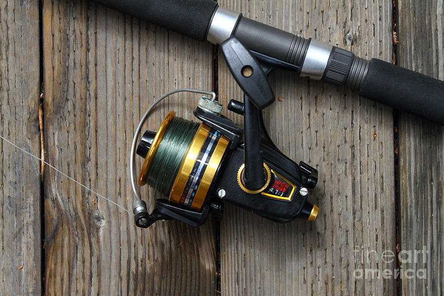 Fishing Rod Photograph - Fishing Rod And Reel . 7d13542 by Wingsdomain Art and Photography