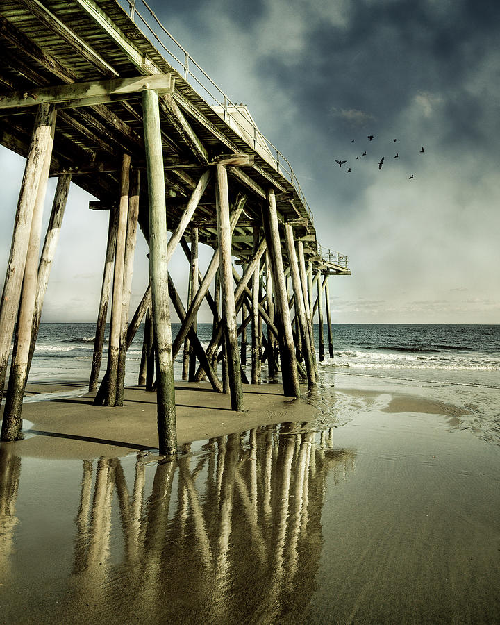 Vertical Photograph - Fishing Shack Pier by Jody Trappe Photography