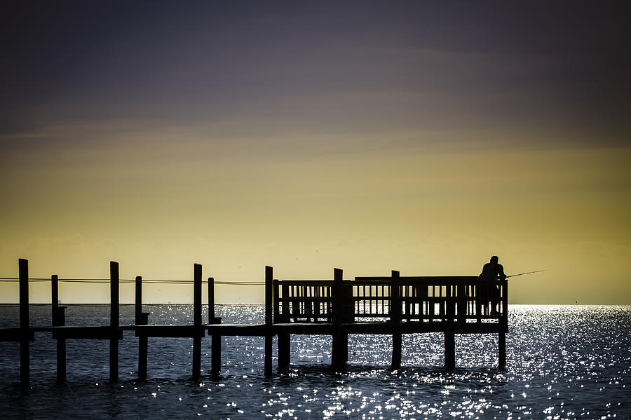 2012 Photograph - Fishing The End Of The Pier by Mabry Campbell