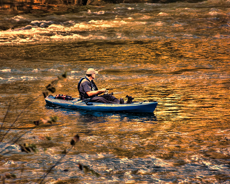 Fishing Photograph - Fishing The Golden Hour by Steven Richardson