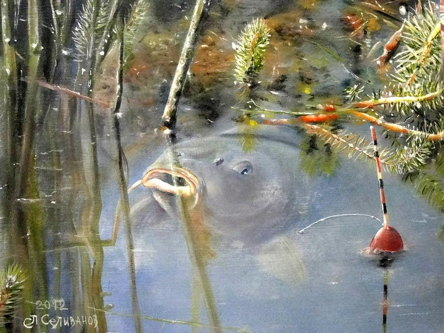 Fish Painting - Fishy Summer by Sergey Selivanov
