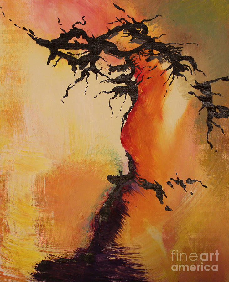 Exploration Painting - Fisure by Carolyn Weir