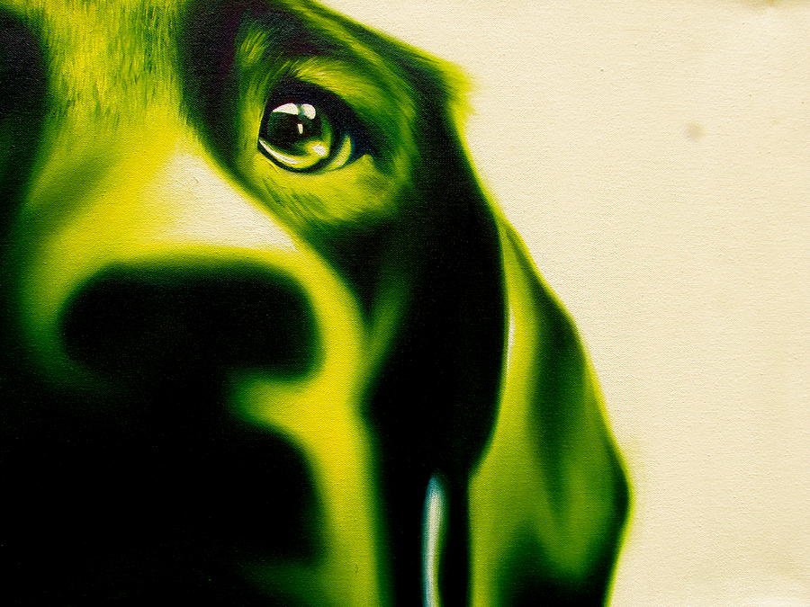 Dog Painting - Fixated by Theresa Crawford