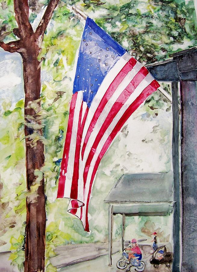 Patriotic Painting - Flag Day by Regina Ammerman