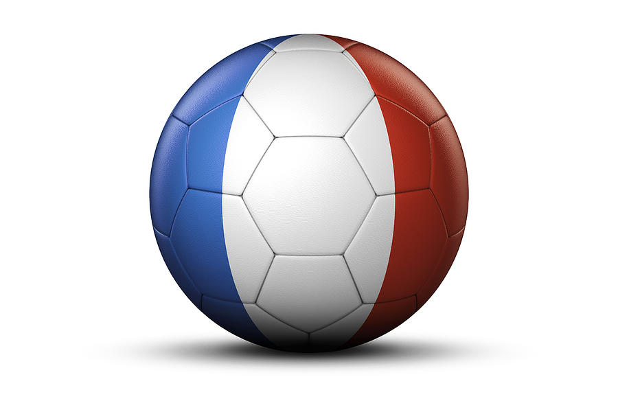 Flag Of France On Soccer Ball Digital Art By Bjorn Holland