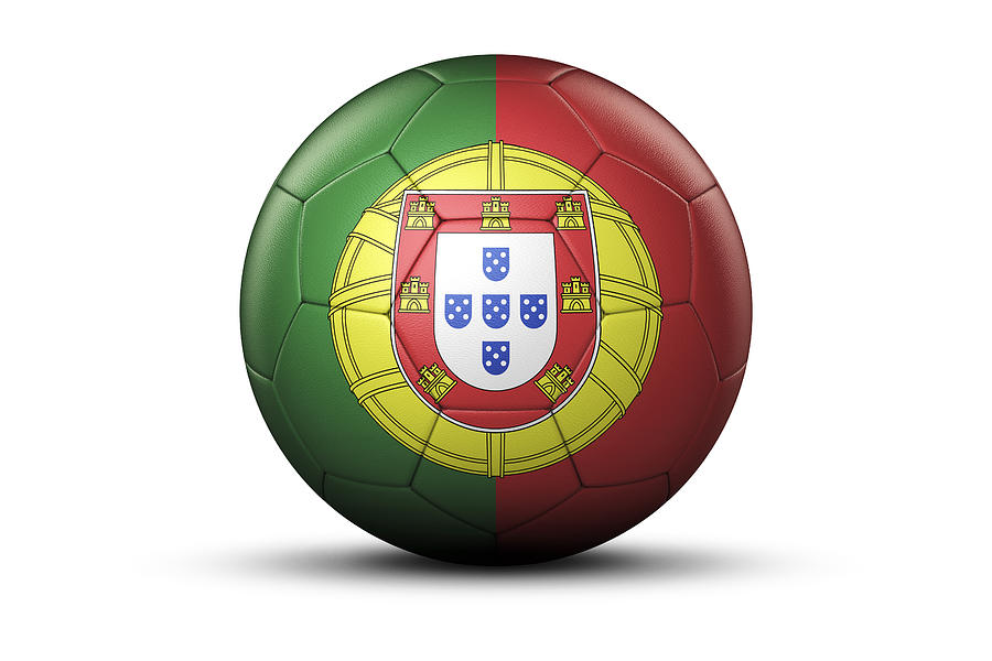 Flag Of Portugal On Soccer Ball Digital Art by Bjorn Holland