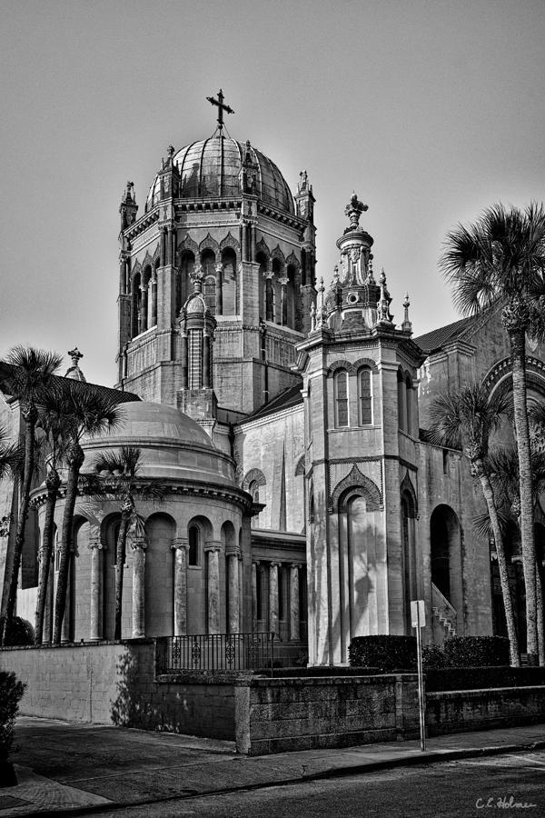 Flagler Photograph - Flagler Memorial Presbyterian Church 3 - Bw by Christopher Holmes