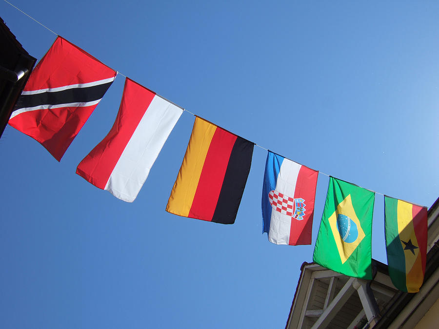 Flags Photograph - Flags Of Different Countries by Matthias Hauser