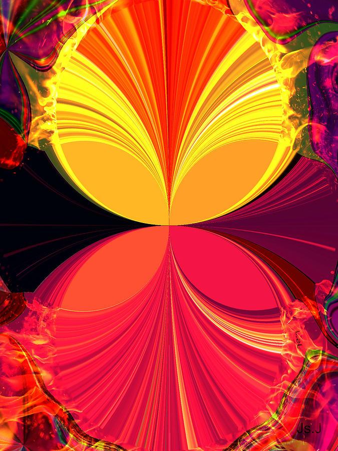 Mixed Media Digital Art - Flamed by Jan Steadman-Jackson