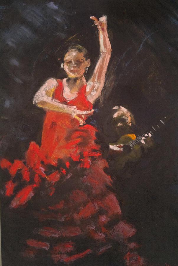 Pastels Pastel - Flamenco Dancer by Paul Mitchell