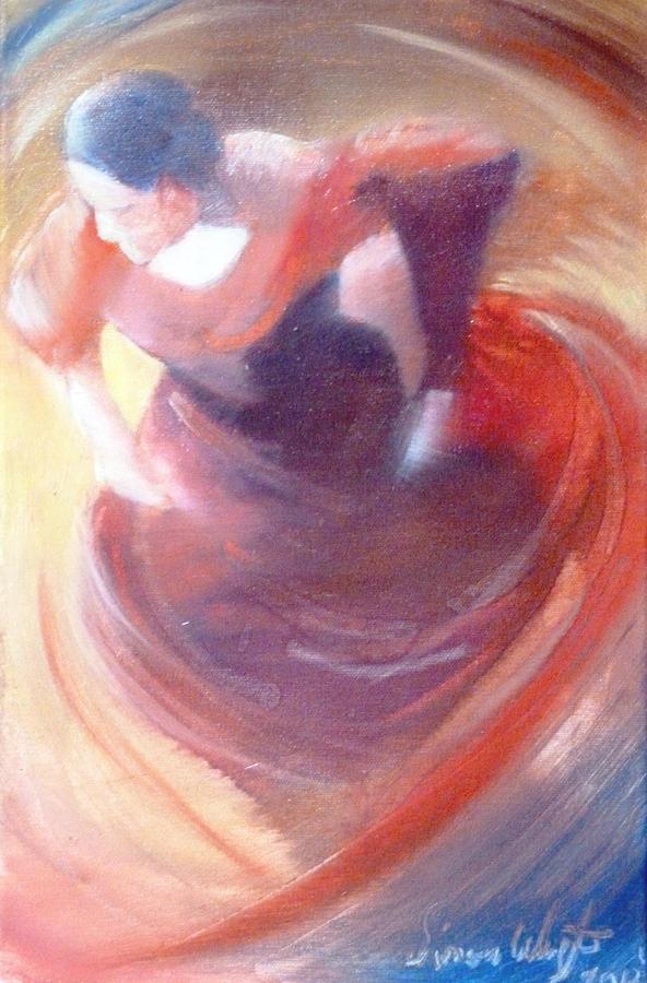 Flamenco Painting - Flamenco Rose by Simon Wright