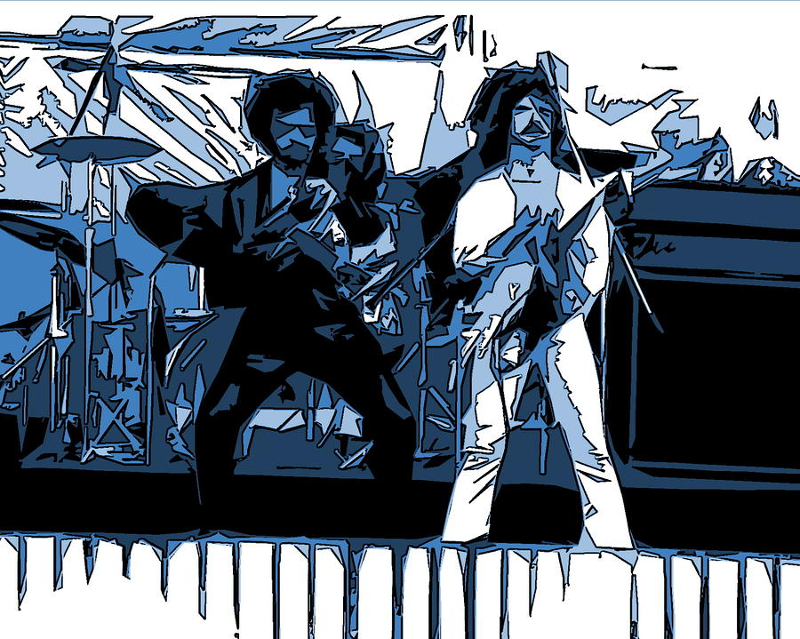 Blue Oyster Cult Photograph - Flaming Blue Telepaths 2 by Ben Upham