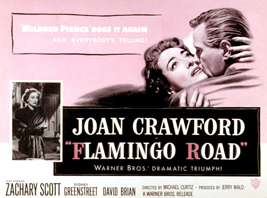 1940s Movies Photograph - Flamingo Road, Joan Crawford, David by Everett
