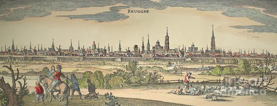 1720 Photograph - Flanders: Bruges, 1720 by Granger