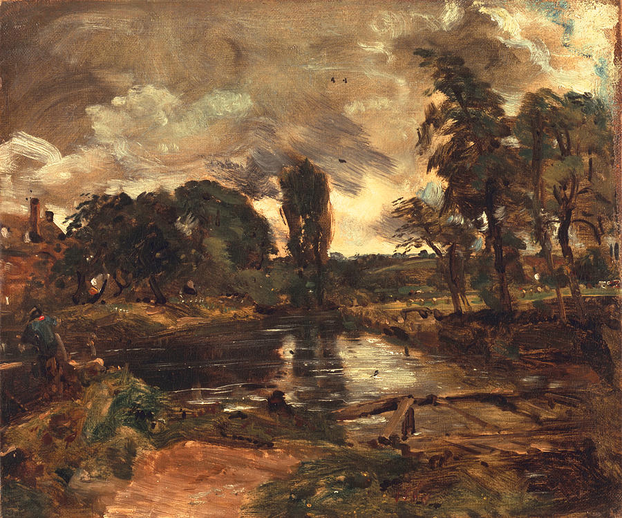 River Stour Painting - Flatford Mill From The Lock by John Constable