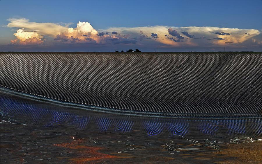 Clouds Photograph - Flatland Farm by Robert Hudnall