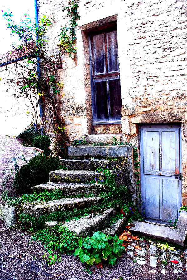 Doors Photograph - Flavigny Steps by Michael Dantuono