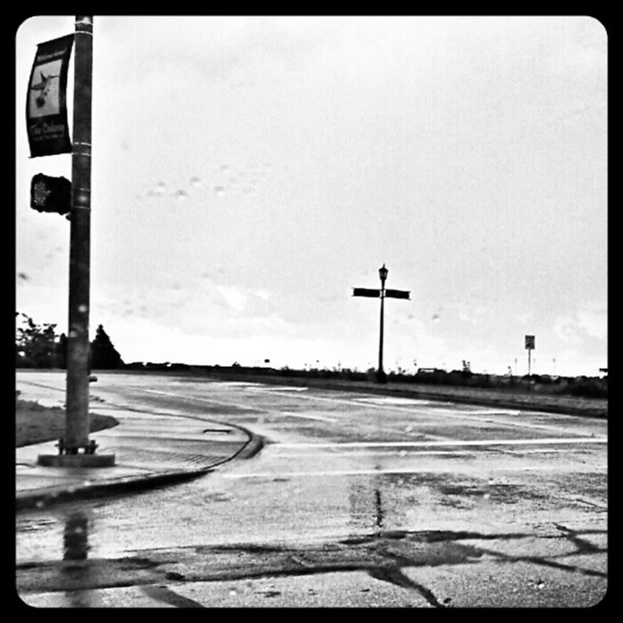 Blackandwhite Photograph - Flawed Streets, Flawless Sky by Kel Hill
