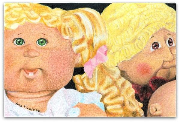 Doll Drawing - Flea Market Toy Series 2 by Ana Tirolese