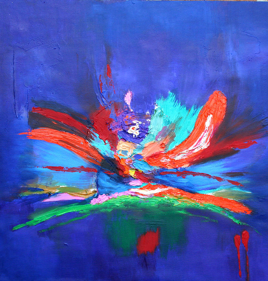 Abstract Painting - Fleeting Moment I by Karin Eisermann
