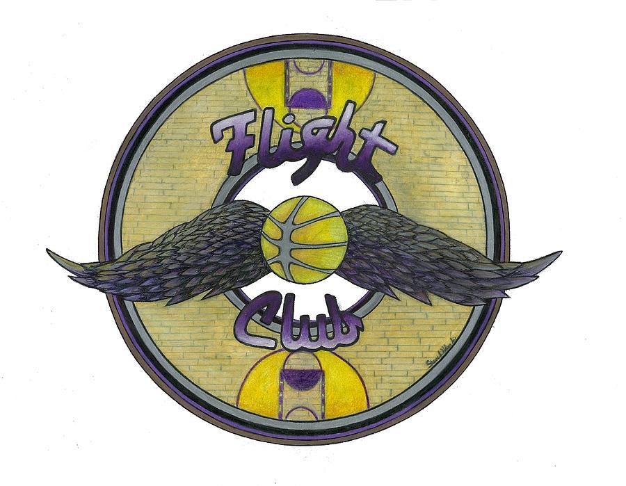 Lakers Drawing - Flight Club by Steve Weber