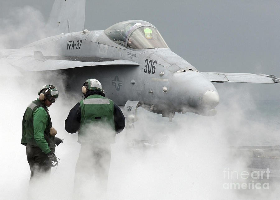 Horizontal Photograph - Flight Deck Personnel Are Surrounded by Stocktrek Images