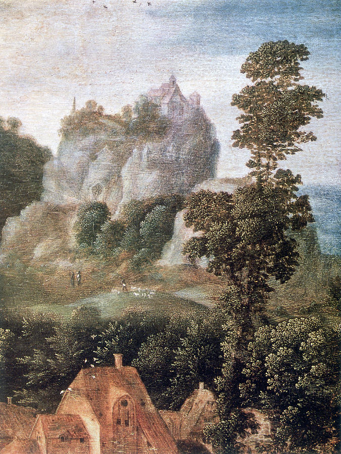 Vertical Photograph - flight Into Egypt, 16th Century, Painting by Photos.com