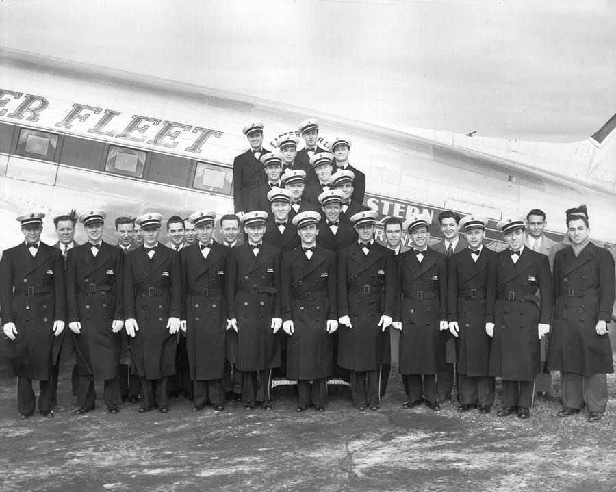 Adults Only Photograph - Flight Stewards by Archive Photos
