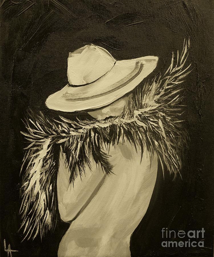 Woman Painting - Flirt Three by Leslie Allen