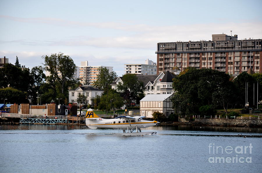 Nautical Photograph - Float Plane In Victoria Inner Harbor by Tanya  Searcy