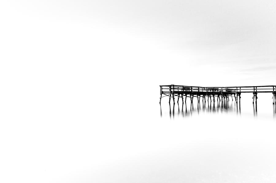 Black And White Photograph - Floating Between Heaven And Earth by Edward Kreis