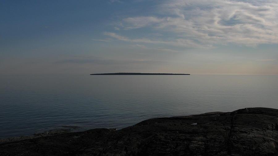 Island Pyrography - Floating Island by Waldemar Okon