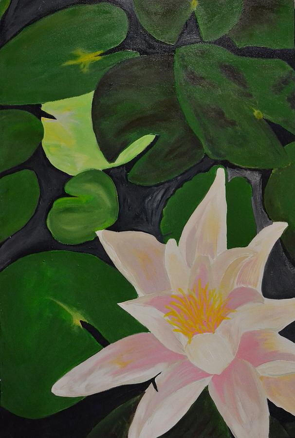 Lotus Painting - Floating Lotus 2 by Holly Donohoe