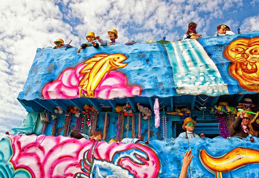 New Orleans Photograph - Floating Thru Mardi Gras by Steve Harrington
