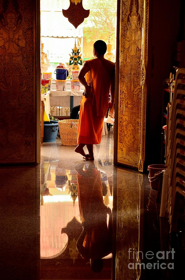 Monk Photograph - Floating World by Dean Harte
