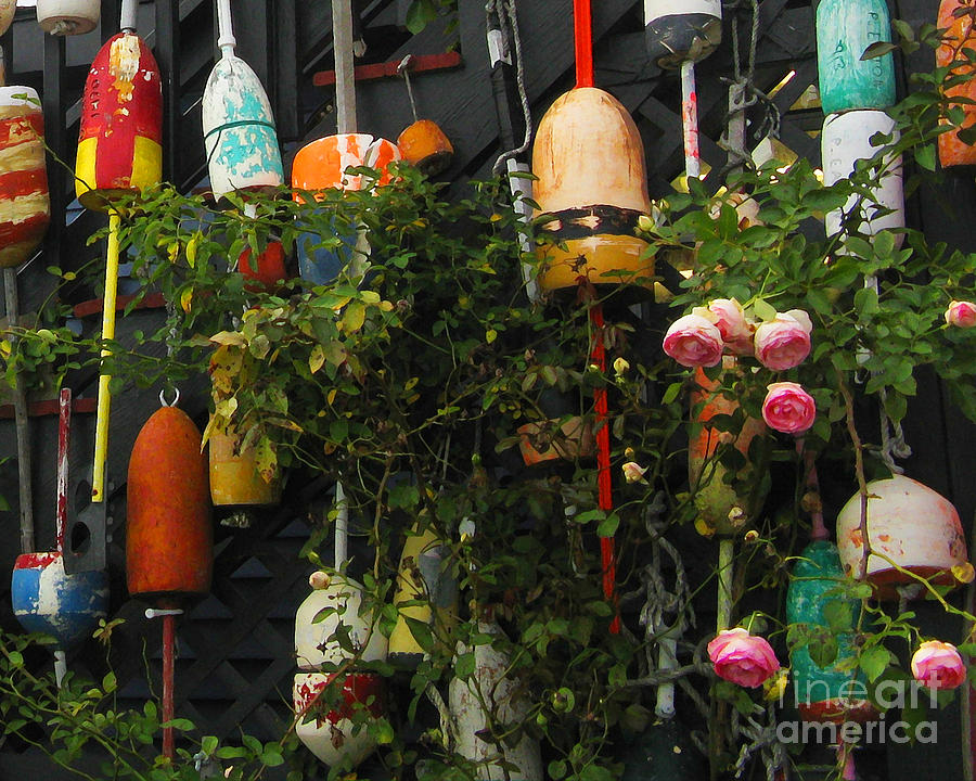 Fishing Photograph - Floats And Roses by Patricia Januszkiewicz