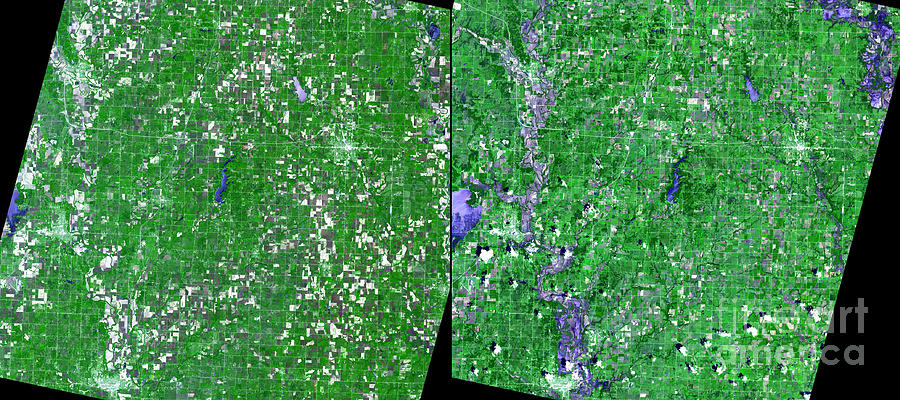 Flooding Photograph - Flooding In Kansas by Nasa