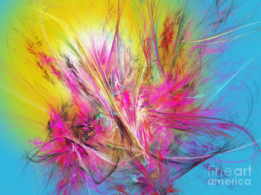 Fractal Digital Art - Flora Splendor Beneath The Sun by Andee Design