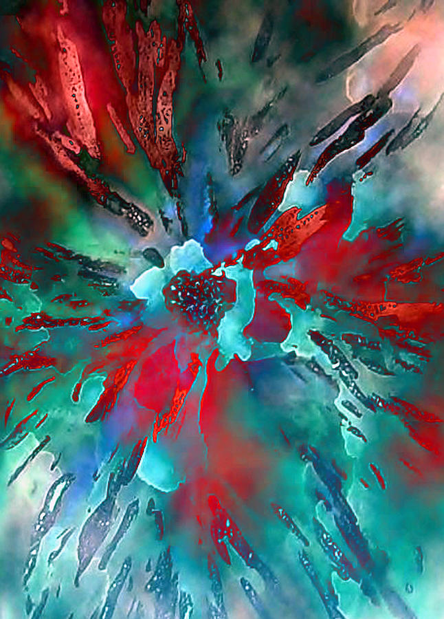 Flower Abstract Painting - Floral Eruption by AnneLise McCoy
