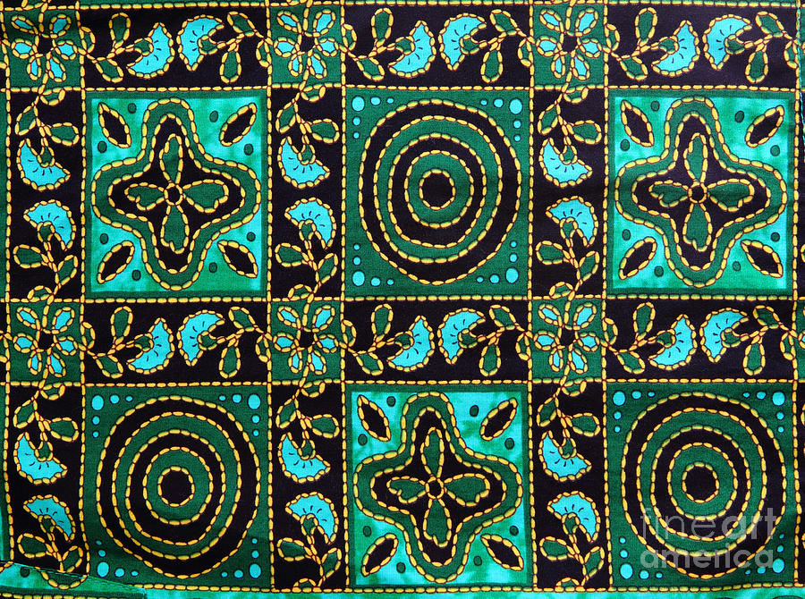 Abstract Tapestry - Textile - Floral Fabric Pattern by Phalakon Jaisangat