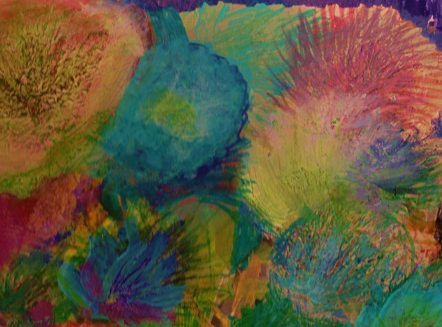 Floral Painting - Floral Fantasy Delight by Anne-Elizabeth Whiteway