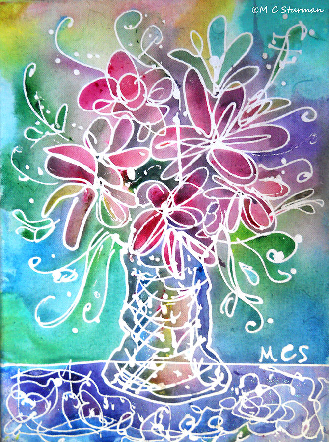 Floral Mixed Media - Floral by M C Sturman