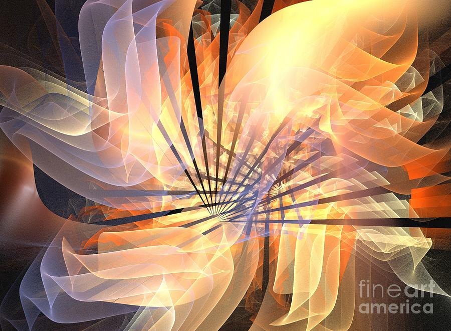 Apophysis Digital Art - Floral Supernova by Kim Sy Ok